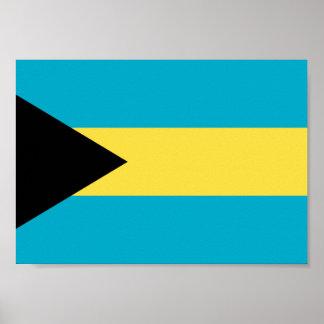 Bahamas-Flagge Poster