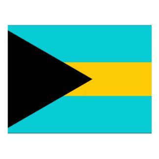 Bahamas-Flagge Postkarte