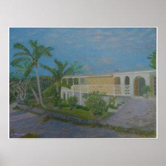 Bahamas-Haus Poster