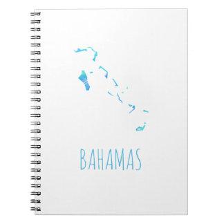 Bahamas-Karte Notizblock