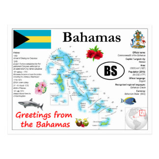Bahamas-Karten-Postkarte Postkarte