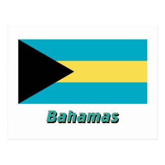 Bahamas kennzeichnen mit Namen Postkarte