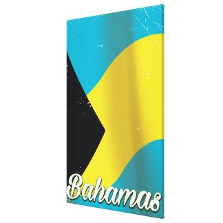 Bahamas kennzeichnen Vintages Reiseplakat Leinwanddruck