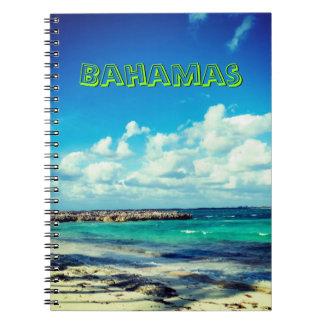 Bahamas-Meerblick Spiral Notizblock