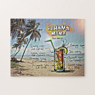 Bahamas-Mutter Cocktail Drink Recipe Puzzle