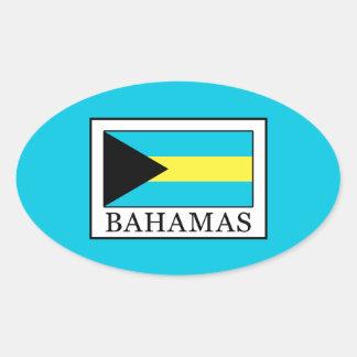 Bahamas Ovaler Aufkleber