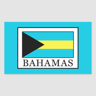 Bahamas Rechteckiger Aufkleber