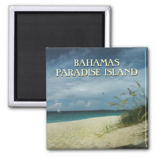 Bahamas-Reise-Andenken-Foto-Magnet Quadratischer Magnet