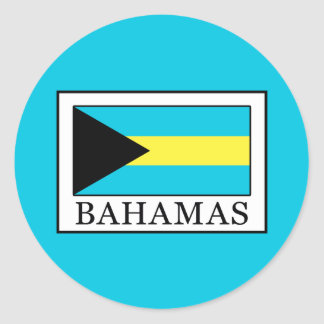 Bahamas Runder Aufkleber