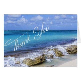 Bahamas-Strand-Hochzeit danken Ihnen Karte
