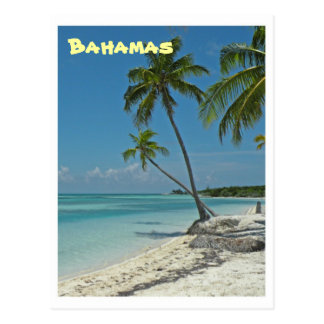 Bahamas-Strand-Postkarte