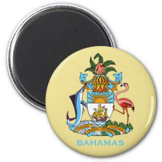 Bahamas-Wappen Magneten Runder Magnet 5,1 Cm