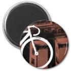 Bahn-Fahrrad-Berlin-Bronze Runder Magnet 5,1 Cm