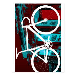 Bahn-Fahrrad Berlin - rotes Blau Postkarten