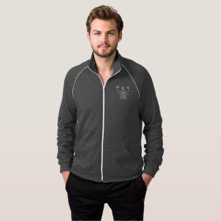 Bahn-Jacke der starken Frauen-Männer dunkle Zip Jacke