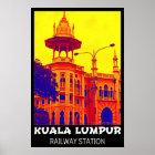Bahnhofs-Pop-Kunst-Plakat Kuala Lumpur Poster