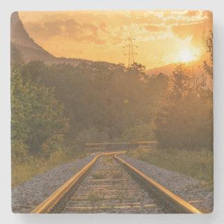 Bahnsonnenunterganglandschaft Steinuntersetzer