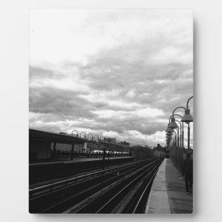 Bahnstation Fotoplatte