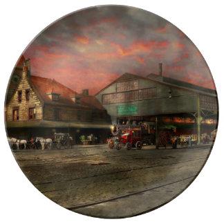 Bahnstation - NY zentrales Eisenbahndepot 1905 Porzellanteller