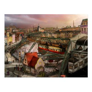 Bahnstation - Wuppertal-Suspendierungs-Eisenbahn Postkarte