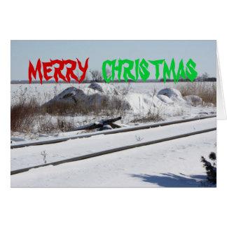 Bahnstrecke-Weihnachtskarte Karte