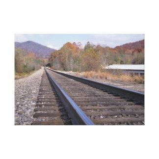 Bahnstrecken Leinwanddruck