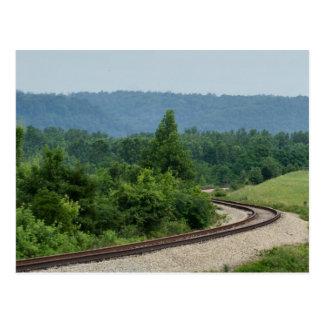 Bahnstrecken Postkarte