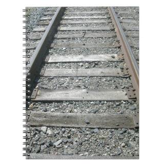 Bahnstrecken Spiral Notizblock