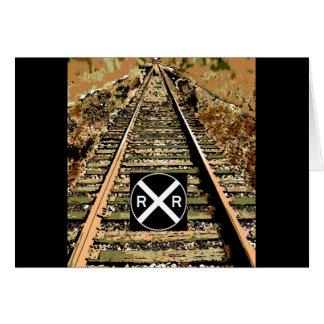Bahnstrecken und Eisenbahn-Zeichen Karte