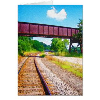 Bahnstrecken und Tressel Karte