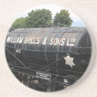 Bahnszene - Tanker - Vintag Sandstein Untersetzer