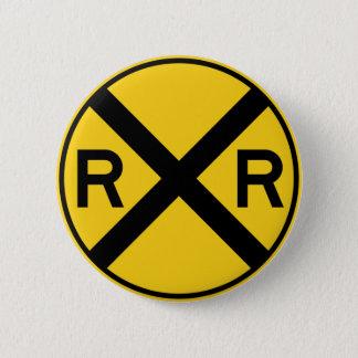 Bahnübergang Landstraßen-Zeichen- Runder Button 5,7 Cm