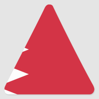 Bahrain-Flagge Dreieckiger Aufkleber