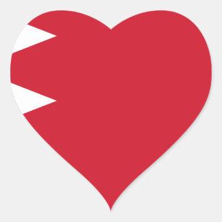 Bahrain-Flagge Herz-Aufkleber