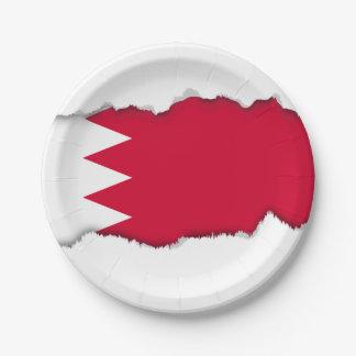 Bahrain-Flagge Pappteller
