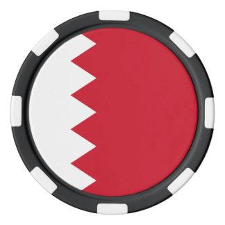 Bahrain-Flagge Pokerchips