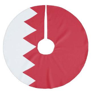 Bahrain-Flagge Polyester Weihnachtsbaumdecke