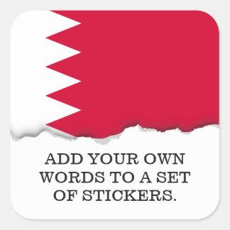 Bahrain-Flagge Quadratischer Aufkleber