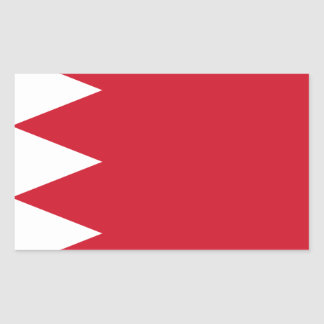 Bahrain-Flagge Rechteckiger Aufkleber