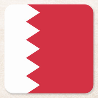 Bahrain-Flagge Rechteckiger Pappuntersetzer