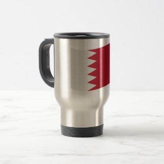Bahrain-Flagge Reisebecher