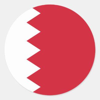 Bahrain-Flagge Runder Aufkleber