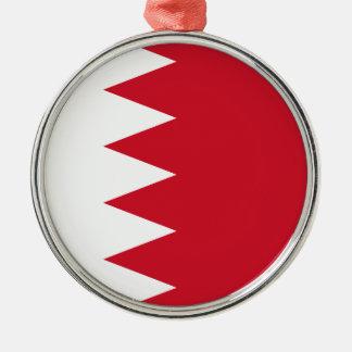 Bahrain-Flagge Silbernes Ornament
