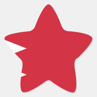Bahrain-Flagge Stern-Aufkleber