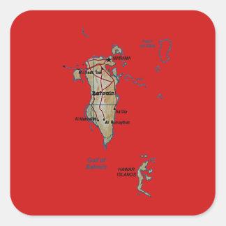 Bahrain-Karten-Aufkleber Quadratischer Aufkleber