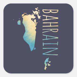 Bahrain Quadratischer Aufkleber