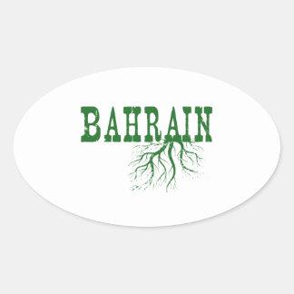 Bahrain-Wurzeln Ovaler Aufkleber