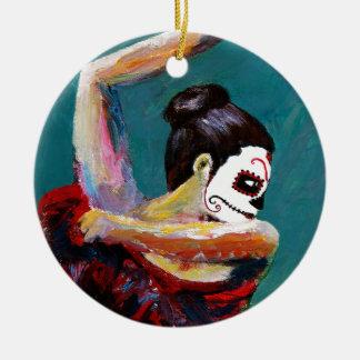 Bailan de Los Muertos Keramik Ornament