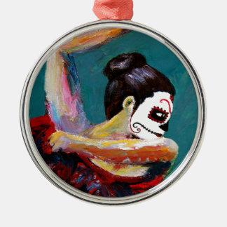 Bailan de Los Muertos Silbernes Ornament
