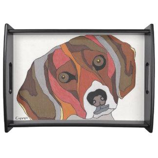Bailey das Beagle-Serviertablett Tablett